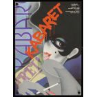 CABARET Czech 11x16 '75 cool different art of Liza Minnelli, directed by Bob Fosse!