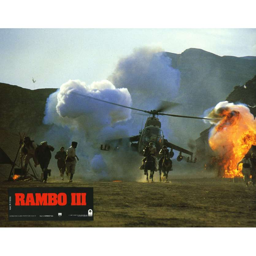 RAMBO 3 Lobby Card N8 9x12 in. French - 1988 - Sylvester Stallone, Richard Crenna