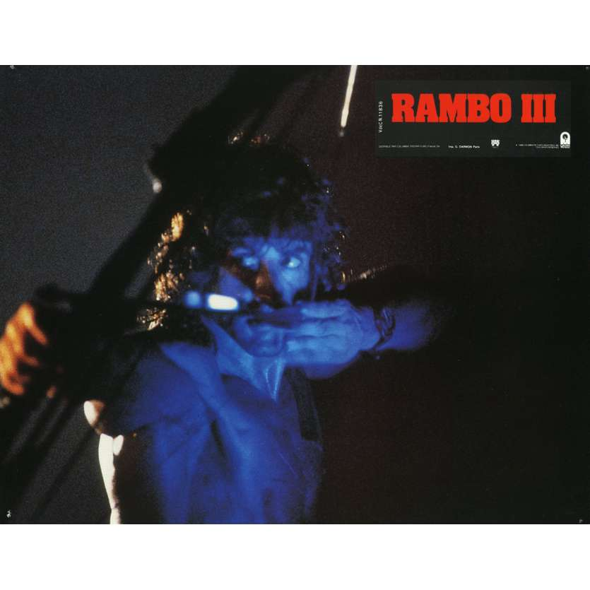 RAMBO 3 Lobby Card N7 9x12 in. French - 1988 - Sylvester Stallone, Richard Crenna
