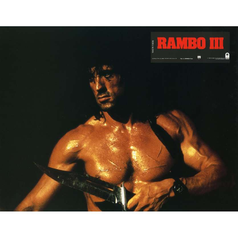 RAMBO 3 Lobby Card N1 9x12 in. French - 1988 - Sylvester Stallone, Richard Crenna
