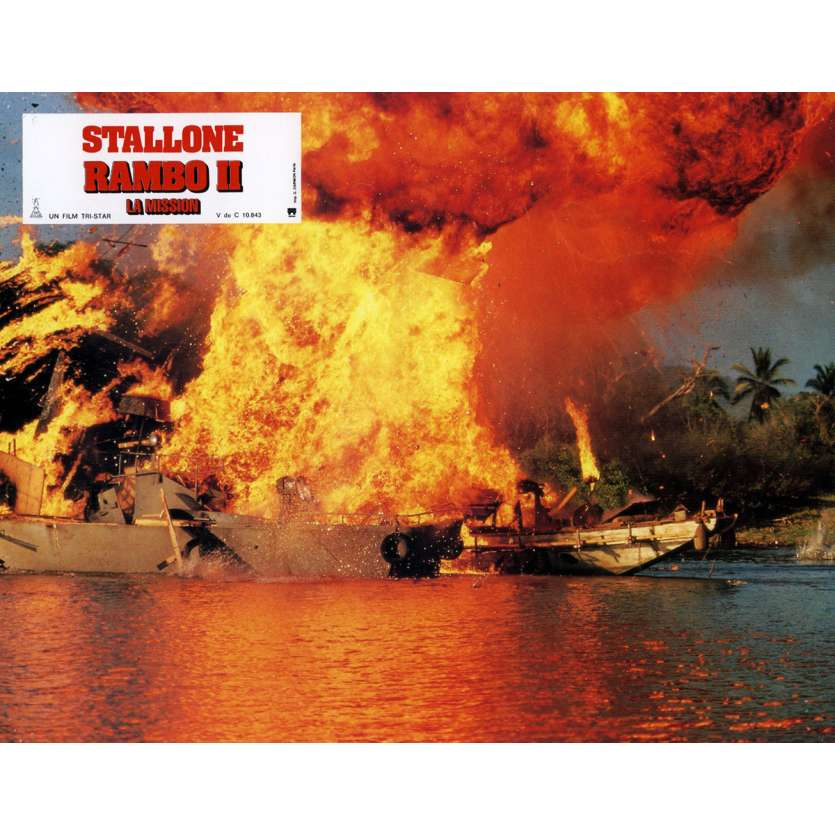 RAMBO II Photo de film N9 21x30 cm - 1985 - Sylvester Stallone, George P. Cosmatos