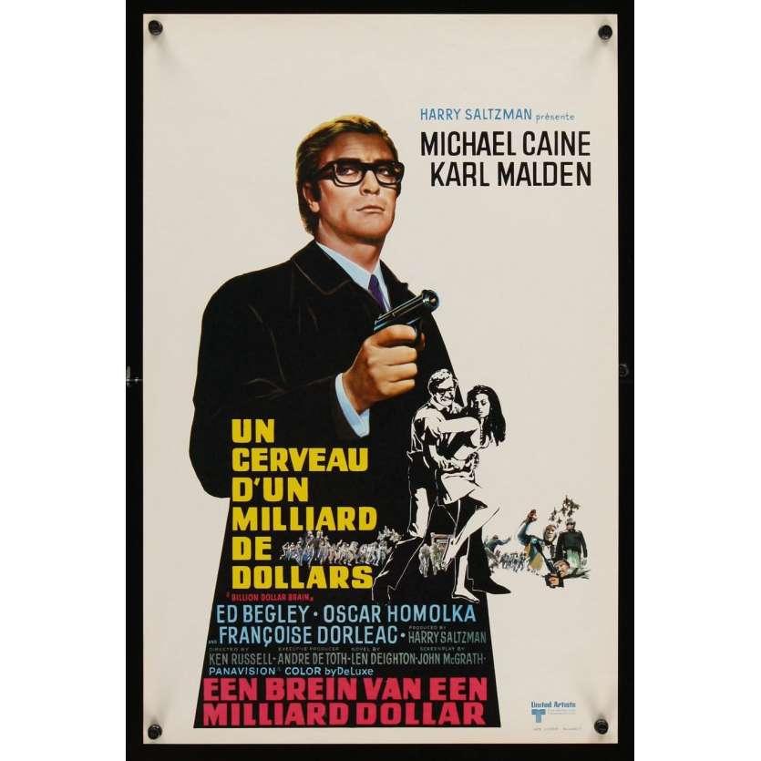 BILLION DOLLAR BRAIN Belgian '67 Michael Caine, Karl Malden, Ken Russell, Caine vs. Brain!