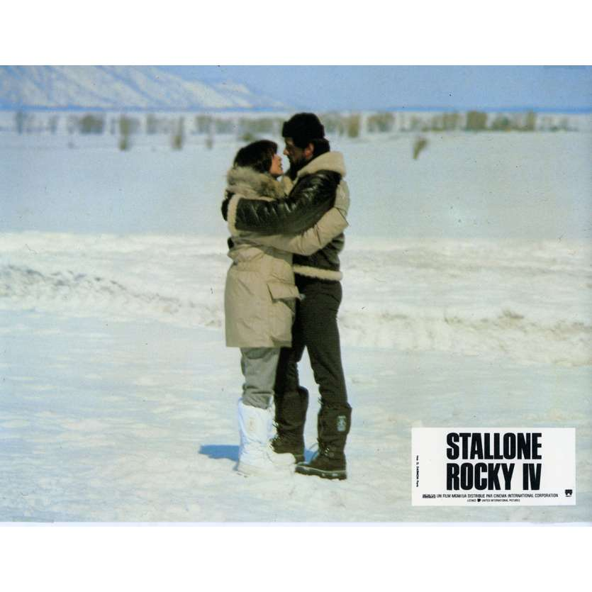 ROCKY 4 Lobby Card N12 9x12 in. French - 1985 - Sylvester Stallone, Dolph Lundgren