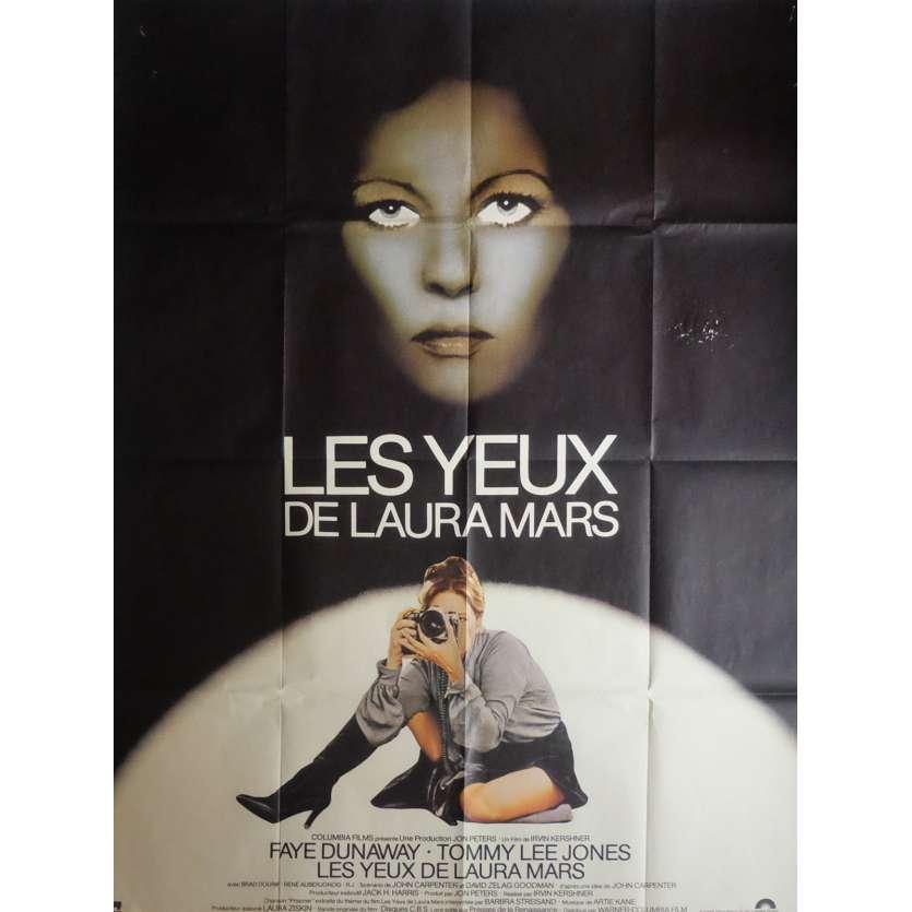 LES YEUX DE LAURA MARS Affiche de film 120x160 cm - 1978 - Faye Dunaway, Irvin Keshner