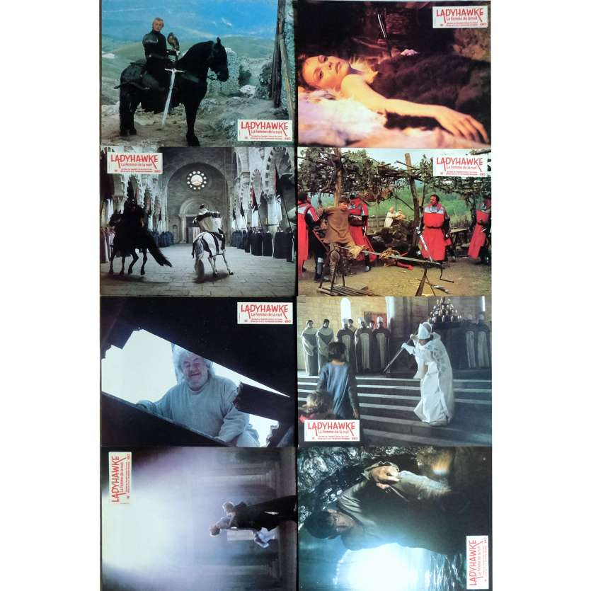 LADYHAWKE Lobby Cards x8 9x12 in. French - 1985 - Richard Donner, Michelle Pfeiffer