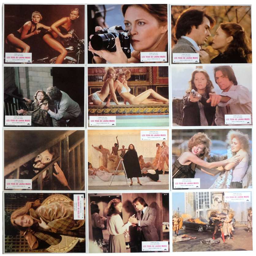 THE EYES OF LAURA MARS Lobby Cards x12 9x12 in. French - 1978 - Irvin Keshner, Faye Dunaway