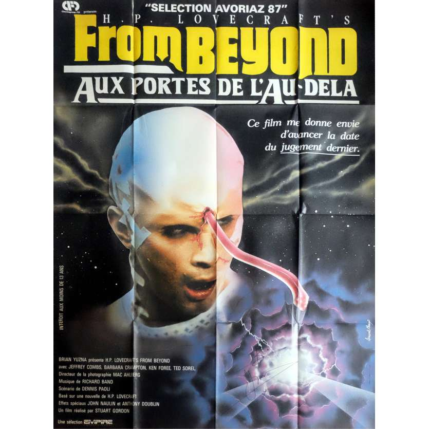 FROM BEYOND Signed Poster 47x63 in. French - 1986 - Stuart Gordon, Barbara Crampton