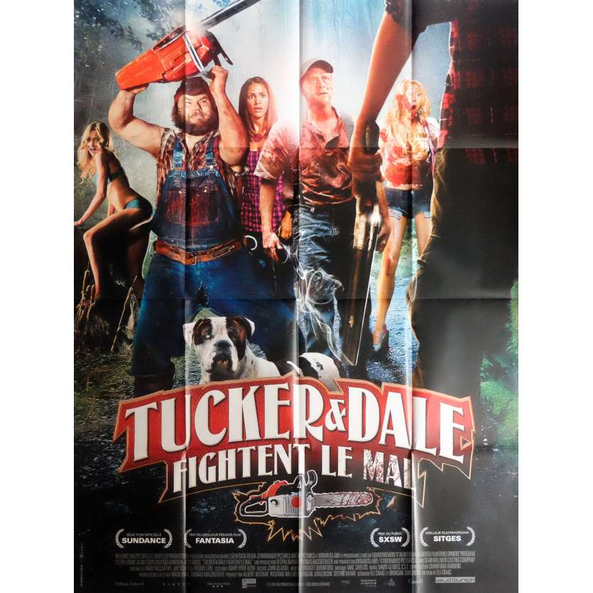 TUCKER AND DALE VS. EVIL Movie Poster 47x63 in. French - 2010 - Eli Craig, Tyler Labine