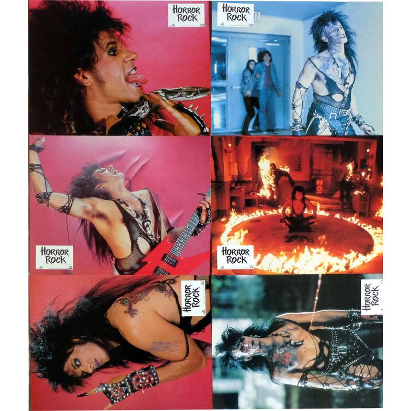 HORROR ROCK Lobby Cards x7 9x12 in. French - 1989 - Paul McCollough, Marcia Machtiger