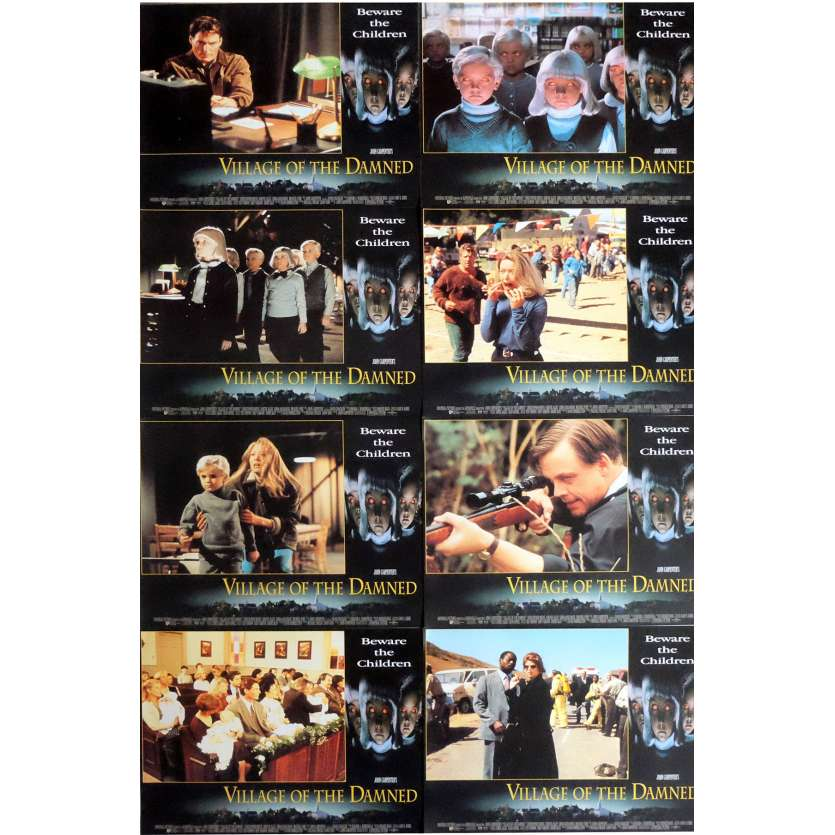 VILLAGE OF THE DAMNED Lobby Cards x8 11x14 in. French - 1995 - John Carpenter, Christopher Reeve