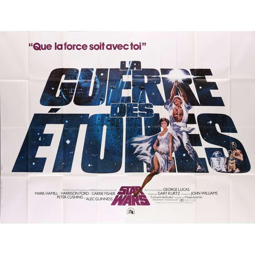 STAR WARS - LA GUERRE DES ETOILES Affiche de film 240x160 cm - 1977 - Harrison Ford, George Lucas
