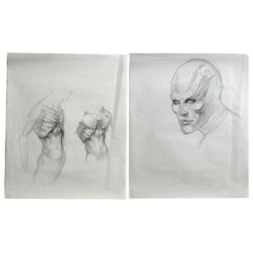BLADE 2 Lot de 2 dessins de production ORIGINAUX !