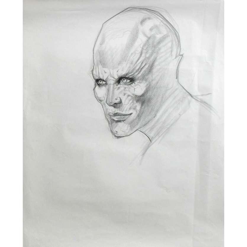 BLADE II 2 Original Production Sketch 2 US '02 Del Toro, Constantine