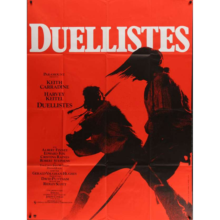 DUELLISTS French Movie Poster '77 Ridley Scott, Keith Carradine, Harvey Keitel, cool fencing image!