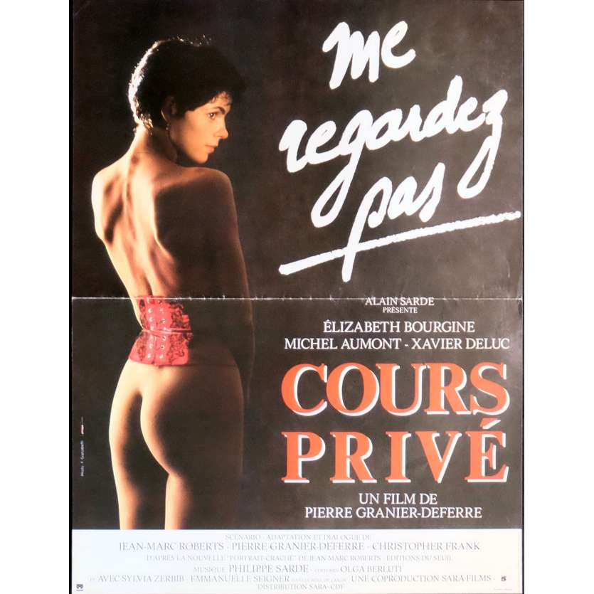 COURS PRIVE Movie Poster 15x21 in. French - 1986 - Pierre Granier-Deferre, Elisabeth Bourgine