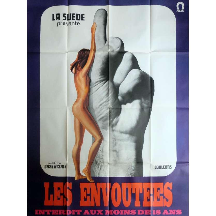 SENSUOUS SORCERESS Movie Poster 47x63 in. French - 1970 - Torgny Wickman, Hans Wahlgren