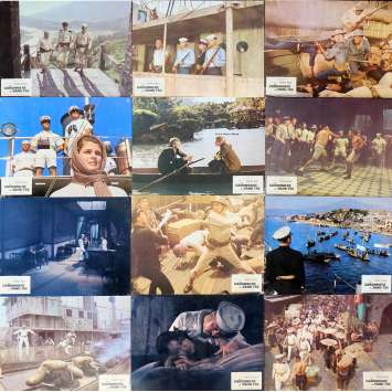 THE SAND PEBBLES Lobby Cards x23 9x12 in. French - 1966 - Robert Wise, Steve McQueen