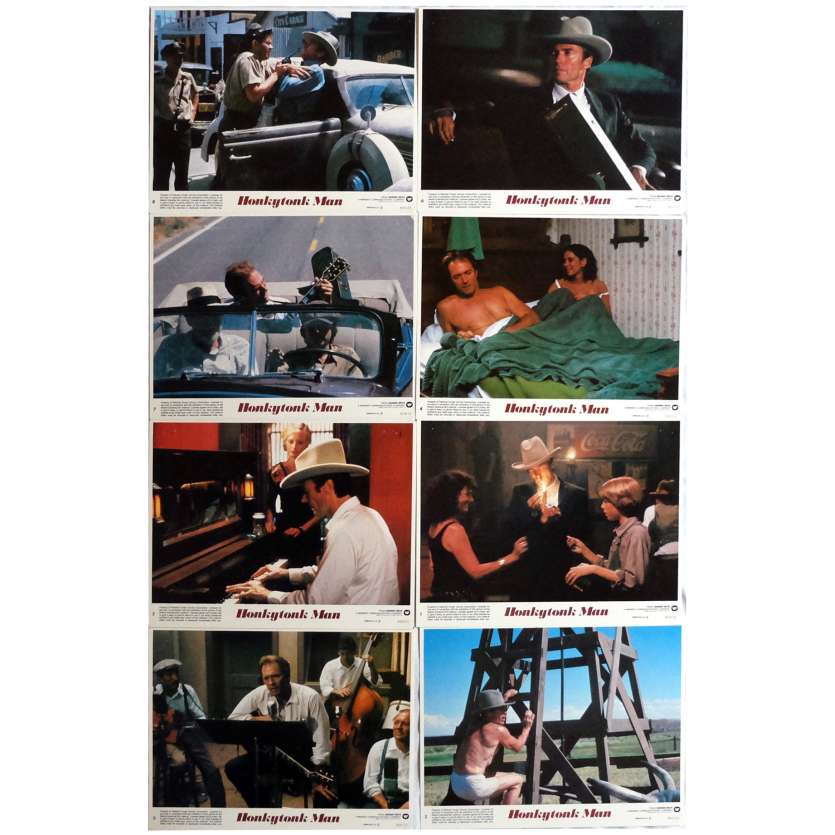 HONKYTONK MAN Lobby Cards x8 9x12 in. USA - 1982 - Clint Eastwood, Clint Eastwood