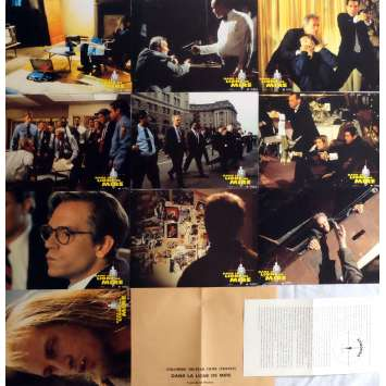 IN THE LINE OF FIRE Lobby Cards x10 9x12 in. French - 1993 - Wolfgang Petersen, Clint Eastwood