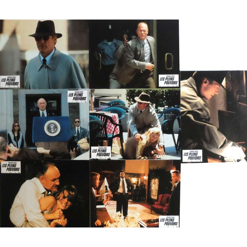 ABSOLUTE POWER Lobby Cards x7 9x12 in. French - 1997 - Clint Eastwood, Gene Hackman