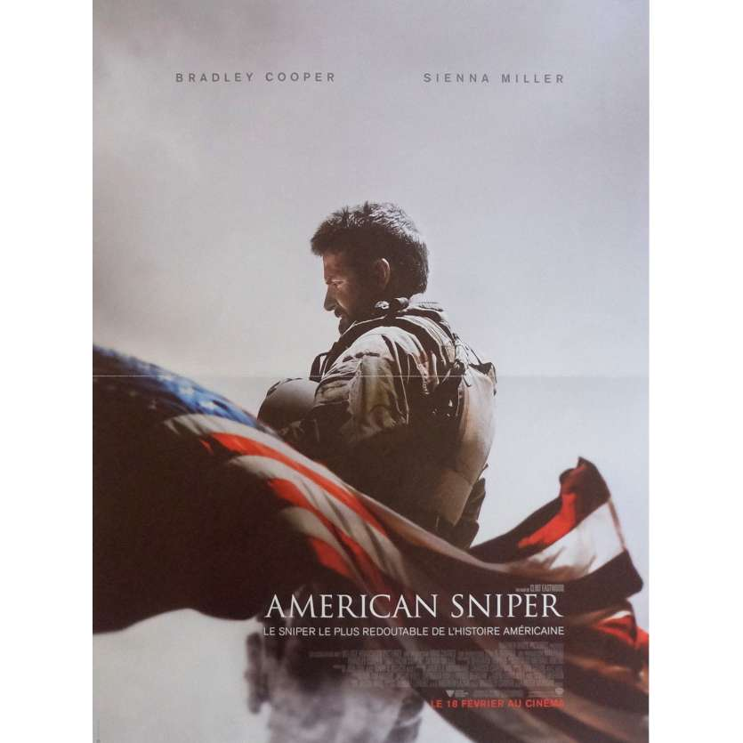 AMERICAN SNIPER French Movie Poster 15x21 - 2014 - Clint Eastwood, Bradley Cooper