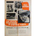 HUD Movie Poster  23x32 in. French - 1963 - Martin Ritt, Paul Newman