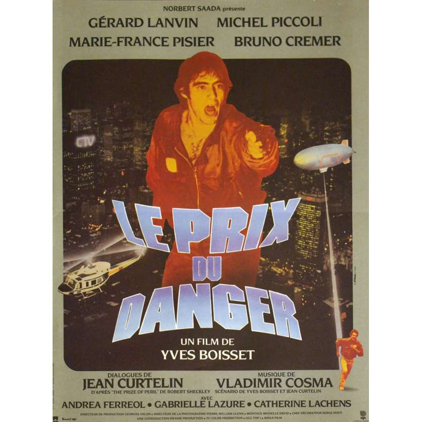 PRIX DU DANGER French Movie Poster 15x21 '81 Gérard Lanvin, Piccoli