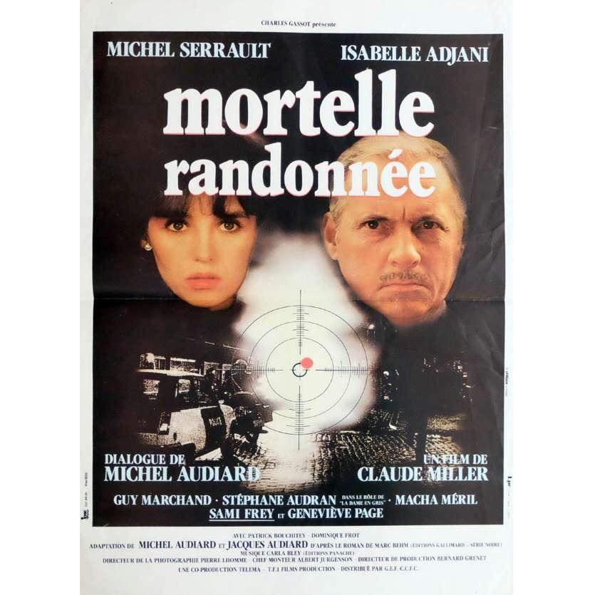 MORTELLE RANDONNEE Affiche de film 40x60 - 1983 - Isabelle Adjani, Claude Miller