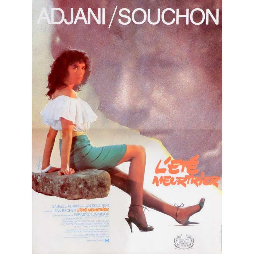 L'ETE MEURTRIER Affiche de film 40x60 - 1983 - Isabelle Adjani, Jean Becker
