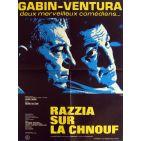 RAZZIA Movie Poster  23x32 in. French - R1970 - Henri Decoin, Jean Gabin