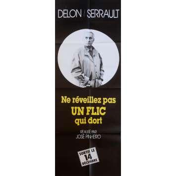 NE REVEILLEZ PAS UN FLIC QUI DORT Affiche de film MS 60x160 cm - 1988 - Alain Delon, José Pinheiro
