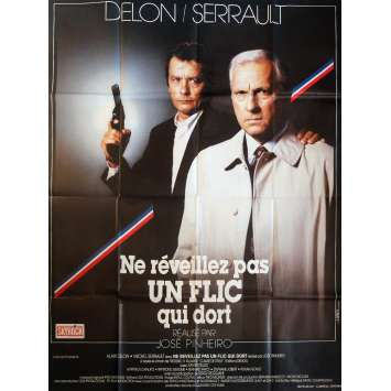 LET SLEEPING COPS LIE Movie Poster 47x63 in. French - 1988 - José Pinheiro, Alain Delon