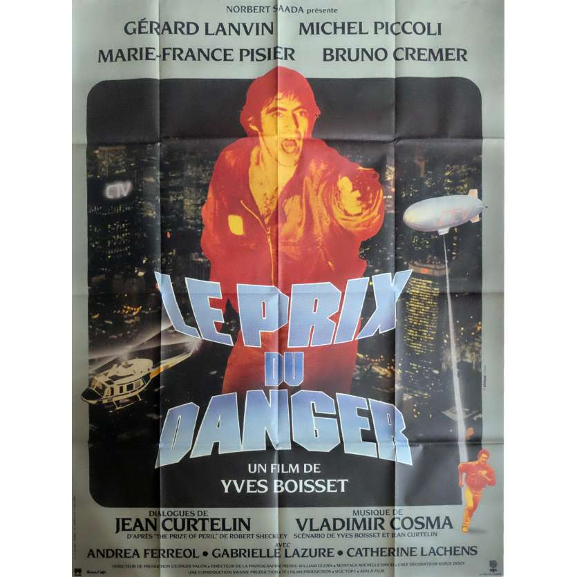 THE PRIZE OF PERIL Movie Poster 47x63 in. French - 1983 - Yves Boisset, Gérard Lanvin