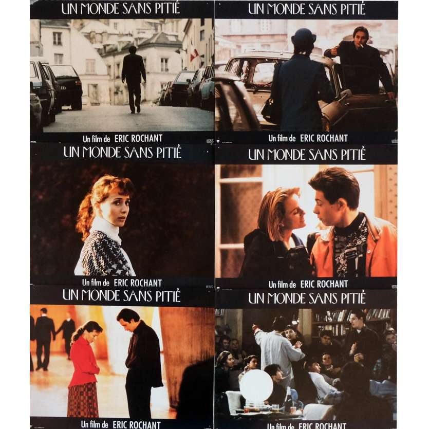 A WORLD WITHOUT PITY Lobby Cards x6 9x12 in. French - 1989 - Eric Rochant, Hippolyte Girardot