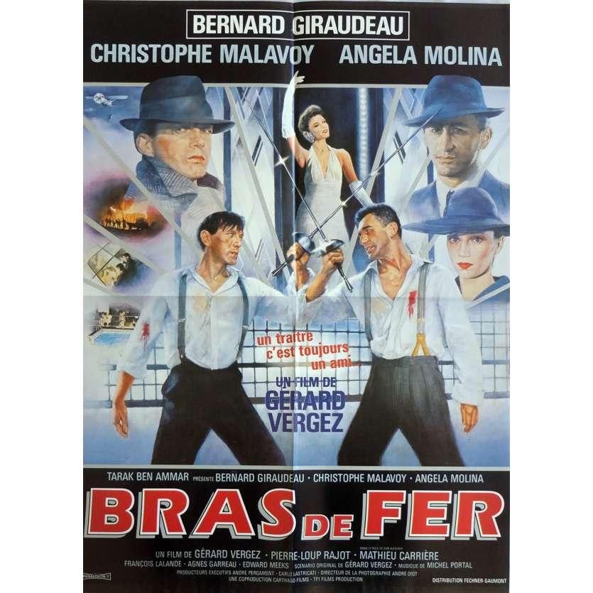 BRAS DE FER Affiche de film 40x60 cm - 1985 - Bernard Giraudeau, Gérard Vergez