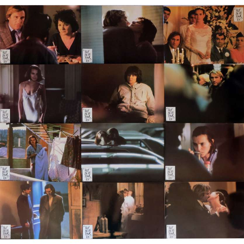 TOO BEAUTIFUL FOR YOU Lobby Cards x12 12x15 in. French - 1989 - Bertrand Blier, Gérard Depardieu