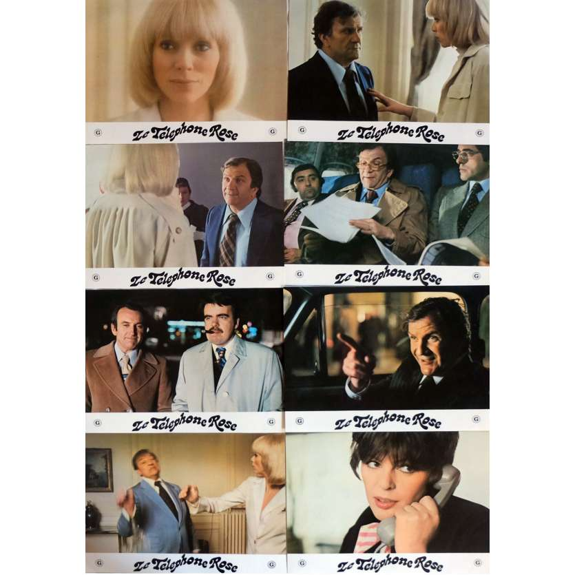 THE PINK TELEPHONE Lobby Cards x8 9x12 in. French - 1975 - Edouard Molinaro, Mireille Darc