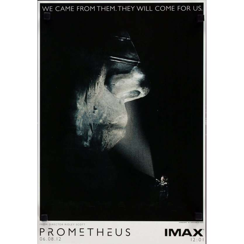 PROMETHEUS Movie Poster 12x15 in. USA - 2012 - Ridley Scott, Noomi Rapace