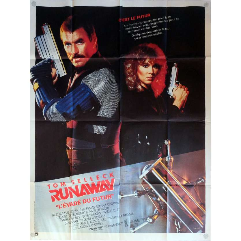 RUNAWAY Movie Poster 47x63 in. French - 1984 - Michael Crichton, Tom Selleck