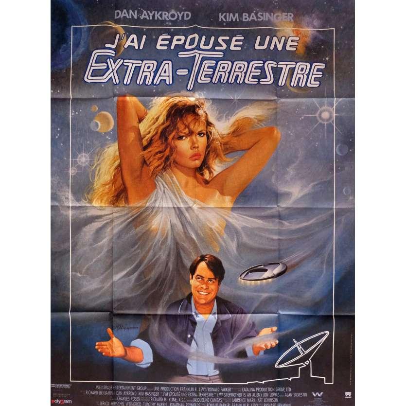 J'AI EPOUSE UNE EXTRA-TERRESTRE Affiche de film 120x160 cm - 1988 - Dan Aycroyd, Richard Nenjamin