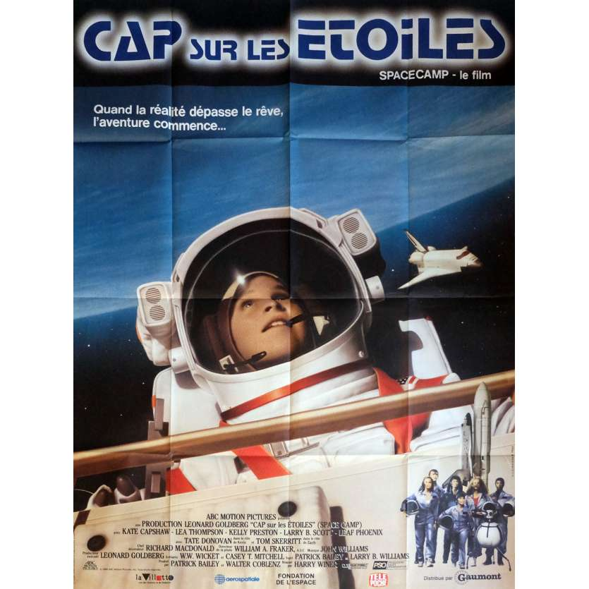 SPACE CAMP Movie Poster 47x63 in. French - 1986 - Harry Winer, Kate Capshaw