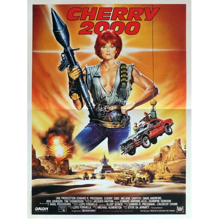 CHERRY 2000 Movie Poster 15x21 in. French - 1987 - Steve De Jarnatt, Melanie Griffith