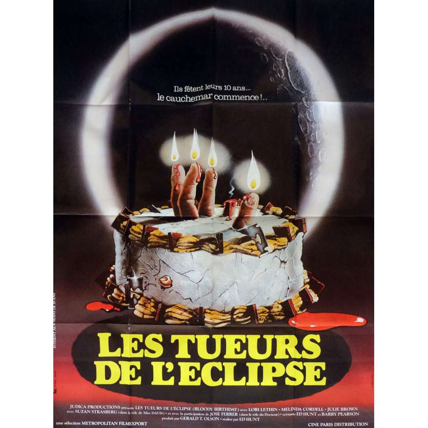 BLOODY BIRTHDAY French 1p Movie Poster '81 Killer Kids