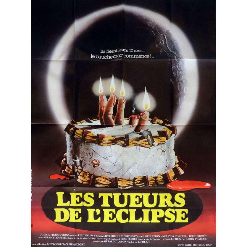 LES TUEURS DE L'ECLIPSE Affiche de film 120x160 - 1981 - Susan Strasberg