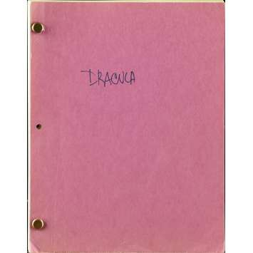 BRAM STOKER'S DRACULA Movie Script 9x12 in. Japanese - 1992 - Francis Ford Coppola, Gary Oldman, Winona Ryder