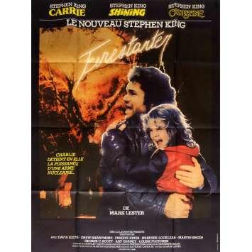FIRESTARTER Movie Poster 47x63 in. French - 1984 - Mark L. Lester, Drew Barrymore