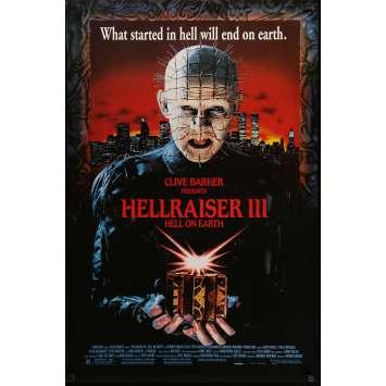 HELLRAISER III HELL ON EARTH Movie Poster 29x41 in. USA - 1992 - Anthony Hckox, Doug Bradley