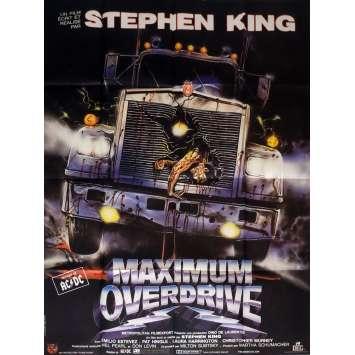 MAXIMUM OVERDRIVE Movie Poster 47x63 in. French - 1986 - Stephen King, Emilio Estevez