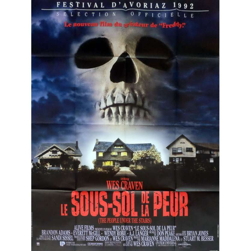 THE PEOPLE UNDER THE STAIRS Movie Poster 47x63 in. French - 1991 - Wes Craven, Everett McGill