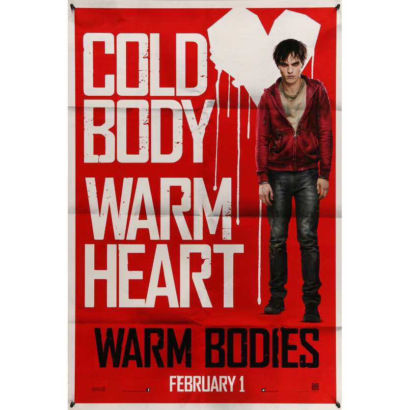 WARM BODIES Movie Poster 29x41 in. USA - 2013 - Jonathan Levine, Nicholas Hoult